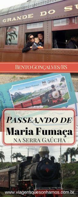 Conheça uma dos passeios mais lindos e divertidos da Serra Gaúcha, embarcando em um trem Maria Fumaça entre as cidades de Bento Gonçalves e Carlos Barbosa.