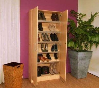 17 mejores ideas sobre zapateras de madera en pinterest - Muebles de zapatos ...