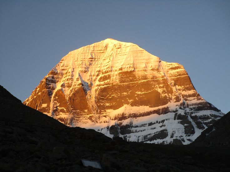Mount Kailash north face at sunrise became Goden face