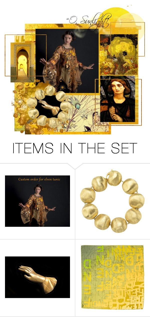 """Gold..."" by artsdesireable ❤ liked on Polyvore featuring art, Alkemia, BSerene, Mercurysmoon and DavidHinchenGallery"