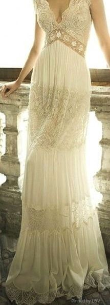 Ivory lace gown