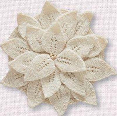 Kira knitting: Knitted flower 1
