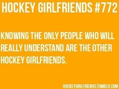 Hockey girlfriend. Hahaha sent to me by Danielle! ❤️