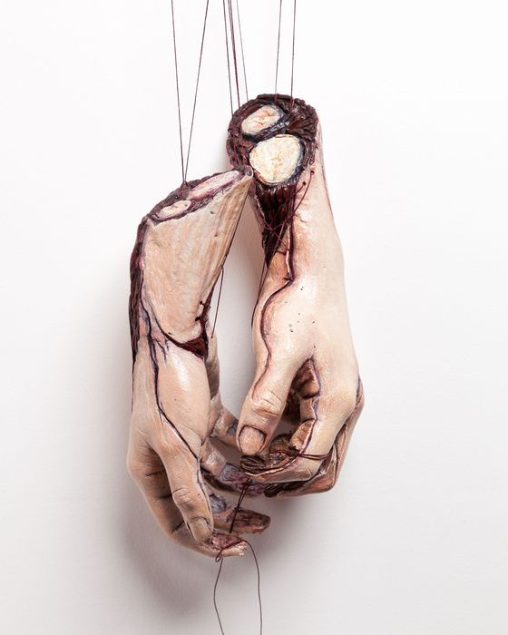 "Artist & Sculptor: Sarah Best ""Pull Yourself Together"" Mixed Media, Ceramic, Soft (Yarn, Cotton, Fabric), Other"