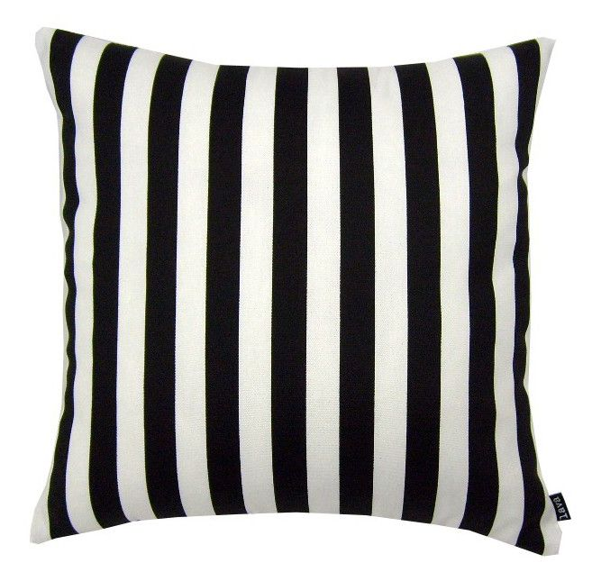 Black And White Stripe Outdoor Throw Pillows : Black and White Stripe, All Weather Indoor/Outdoor Pillows (Set of two, 18?) Office ideas ...