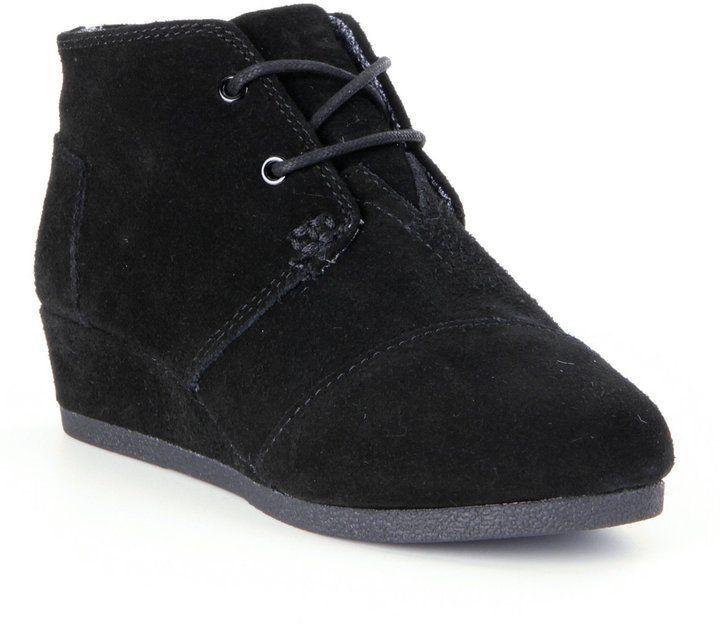 Toms Desert Wedge Suede Girls' Boots