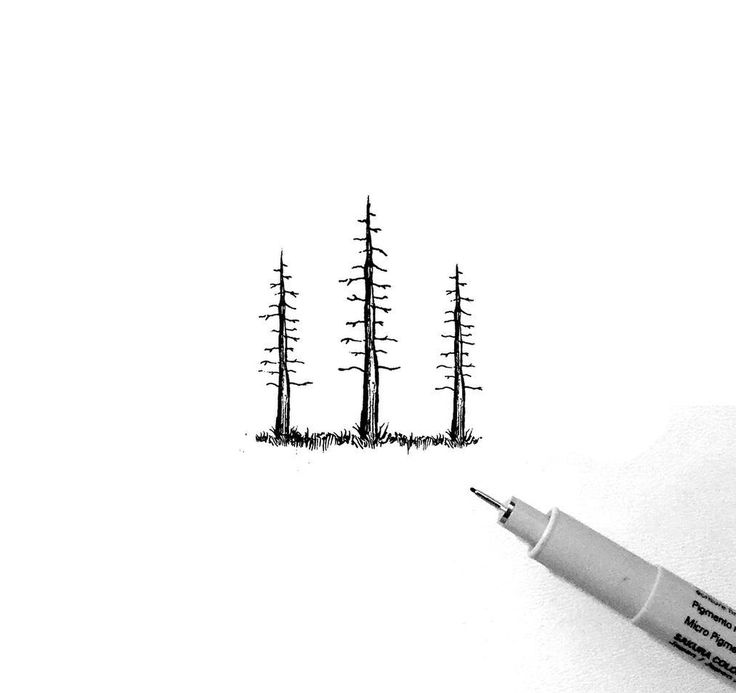 #illustration #artoftheday #draw #tree #forest #go #clean #sakurapen