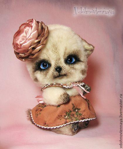 Мишки Тедди ручной работы. Ярмарка Мастеров - ручная работа. Купить Гималайский котенок Йоке. Handmade. Разноцветный, котенок тедди