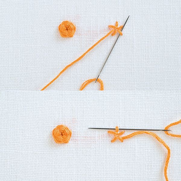 Woven Wheel Stitch Creates stunning flowers that stand out from the material. Must have an odd number of spokes. For a more dimensional stitch pack the weaving tight. For a more flat and open stitch, keep the woven thread looser. Click through for directions