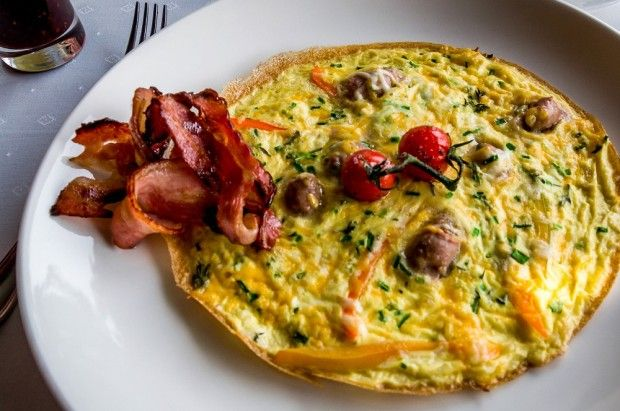 Breakfast omelet at the Tintswalo Cape Town