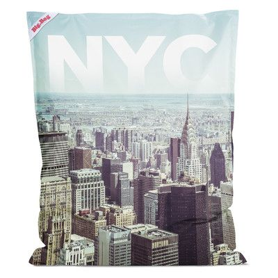 NYC Bean Bag Chair Color: Multi - http://delanico.com/bean-bag-chairs/nyc-bean-bag-chair-color-multi-641177707/