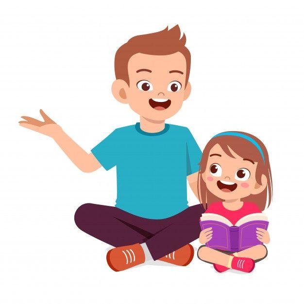 Feliz Nina Nino Lindo Leer Libro Con Pap Premium Vector Freepik Vector Libro Caracter Dibujos Ani En 2020 Caricaturas De Ninos Fondos Para Ninos Ninos Lindos