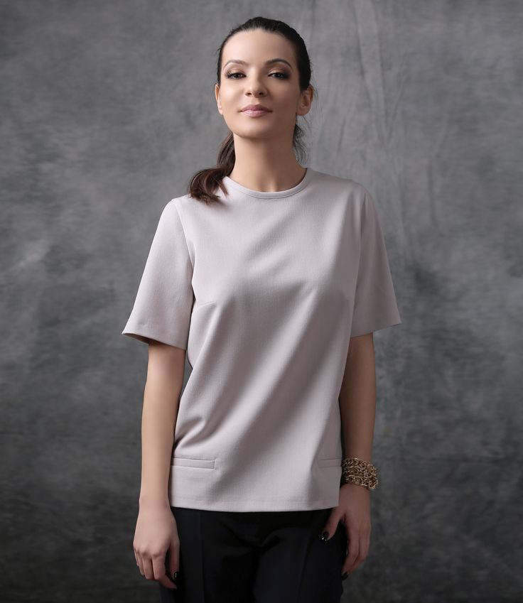 Minimal lines at the office YOKKO   spring17 #blouse #spring17 #officetop #blouse #newcollection #yokko #woman #style #fashion