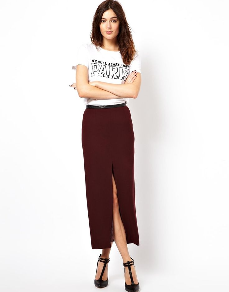 #asos                     #Skirt                    #ASOS #Pencil #Skirt #with #Split #Front #Waistband                           ASOS Pencil Skirt with Split Front and PU Waistband                           http://www.seapai.com/product.aspx?PID=1387360