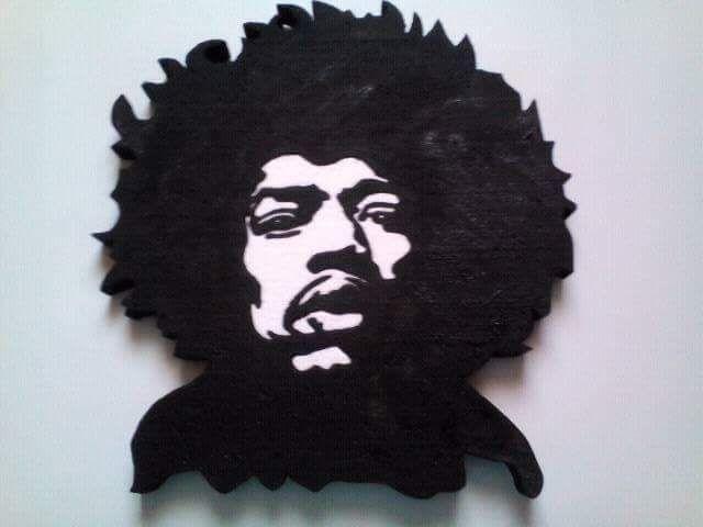 Jimi Hendrix stencil Hungarocell, nikecell Székesfehérvár