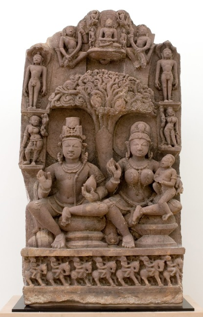 GoogleArtProject2 at the AGNSW. http://www.googleartproject.com/collection/art-gallery-of-new-south-wales/artwork/stele-with-yaksha-yakshini-couple-and-jinas-unknown/434522/