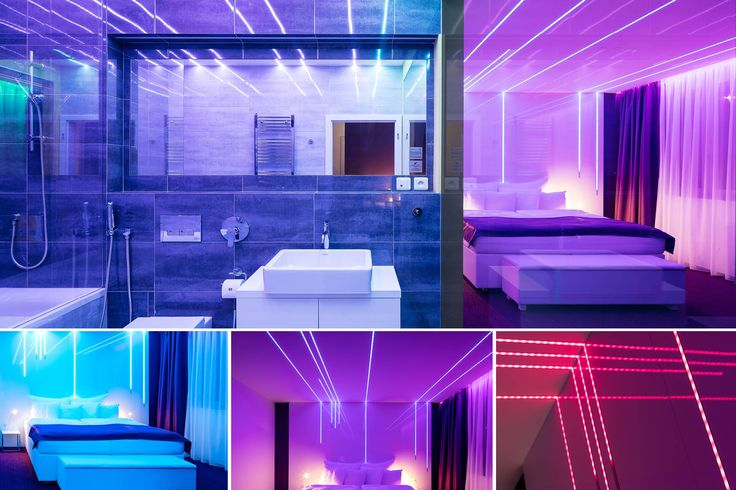 Design room with led lights. Room 101 Linie světla by designer Ivo Prokel #pytloun #design #room #hotel