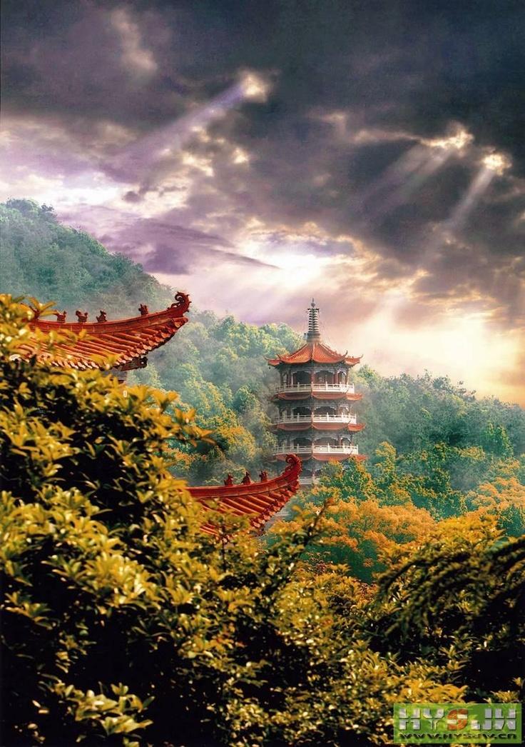 Jiashan Temple, Hunan, China | China | Pinterest | Temple ...