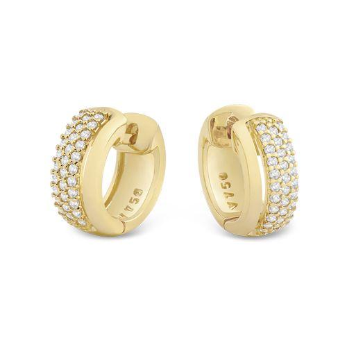 Brinco Ouro Amarelo e Diamantes Lumiére Clássico