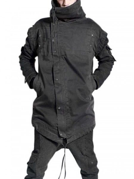 Demobaza Asymmetric Cotton Casual Jacket in Gray for Men (grey) | Lyst
