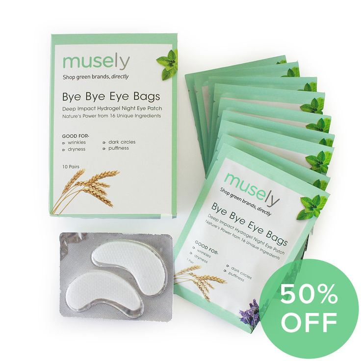 Bye Bye Eye Bags Hydrogel Night Eye Masks (Box of 10) - Celebrate our launch with 50% off! by Musely Store