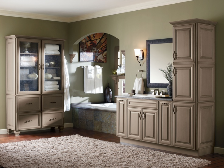 32 best images about bathroom design high end on for Lowes semi custom bathroom cabinets