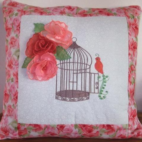 Vintage Birdcage Cushion