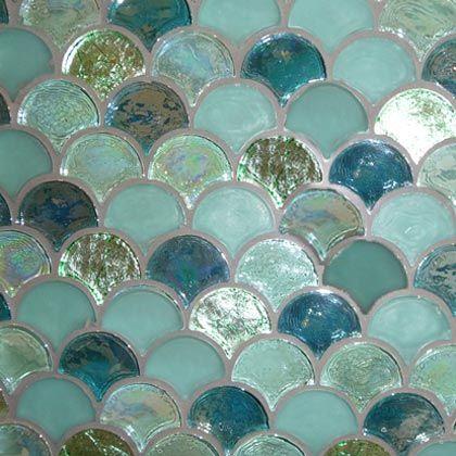 mermaid glass tile for pool bathroom