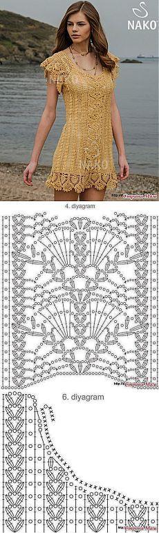 Вязание: замечательное платье-туника.