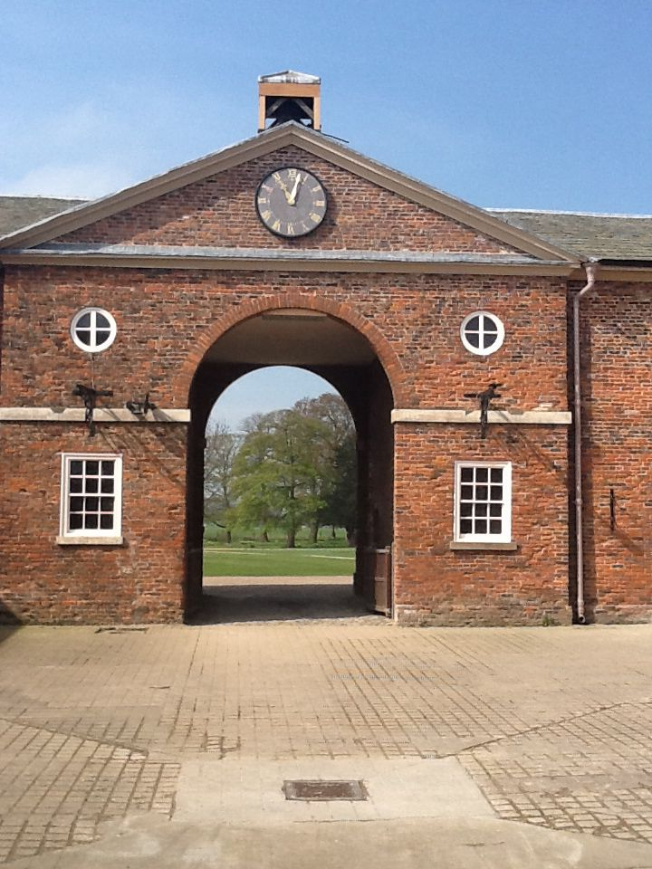 Sunny morning at the newly renovated stables at Burton Constable Hall.