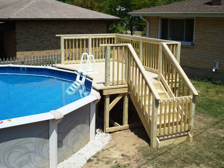Do It Yourself Above The Ground Pool Ladders Wood Decorations