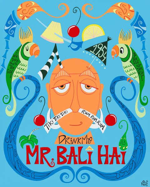 AMAZING Mr. Bali Hai painting by the one and only Nan!