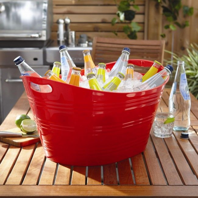 Keep beer, wine, coolers, water or pop cold and easily accessible during those outdoor get togethers.