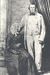 Maria (Granny) Smith ... developed the 'Granny Smith Apple' in the City of Ryde in Sydney, Australia circa 1868. She is shown here with her eldest son, Thomas.