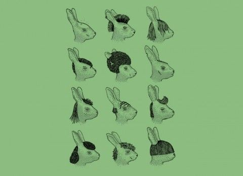 Hare styles: Bunnies Bunnies, Illustrations Inspiration, Bunnies Honey, Art Prints, Style Art, Bunnies Paul, Hair Style, Haring Style, Bunnies Rabbit