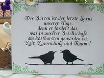 ♥Gartenpoesie♥ Schild für Draussen
