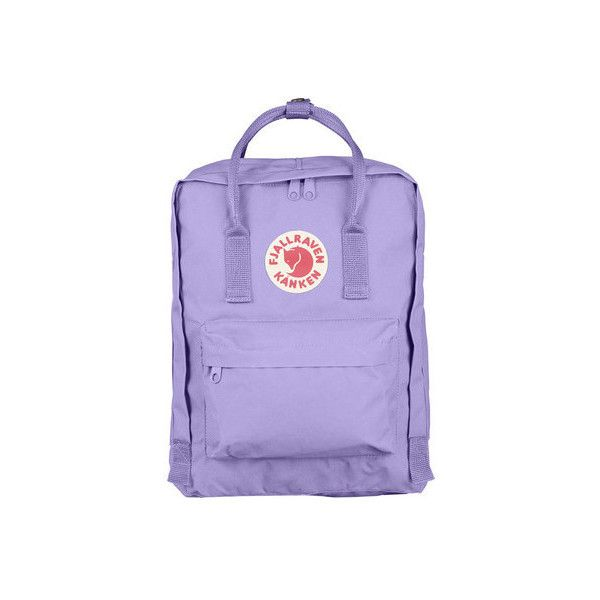 Fjallraven Kanken Backpack (4,010 PHP) ❤ liked on Polyvore featuring bags, backpacks, purple, colorblock backpack, cargo backpack, holiday bags, faux-leather backpack and logo backpacks