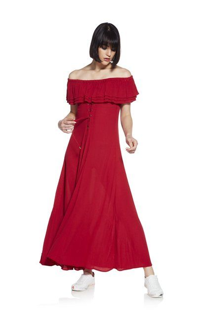 11ebf43ab2 Nuon by Westside Red Dibella Dress - | 1499.00 | Dresses & Jumpsuits ...