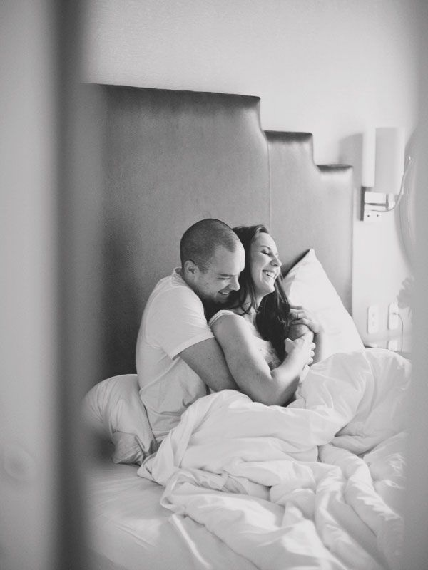 Absolutely LOVE this photo shoot idea for the morning after your wedding or in this case, an anniversary!