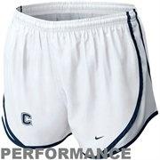 Nike UCONN Huskies Ladies Tempo Performance Shorts - White