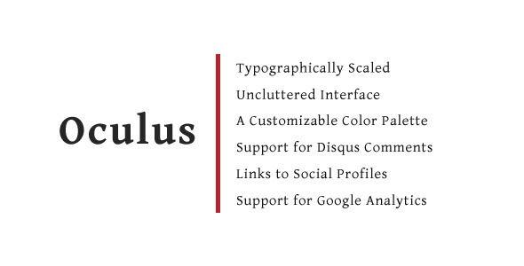 Oculus - A Tumblr Blog Theme - Blog Tumblr