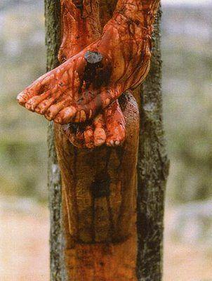 Detalle de Jesucristo en la Cruz