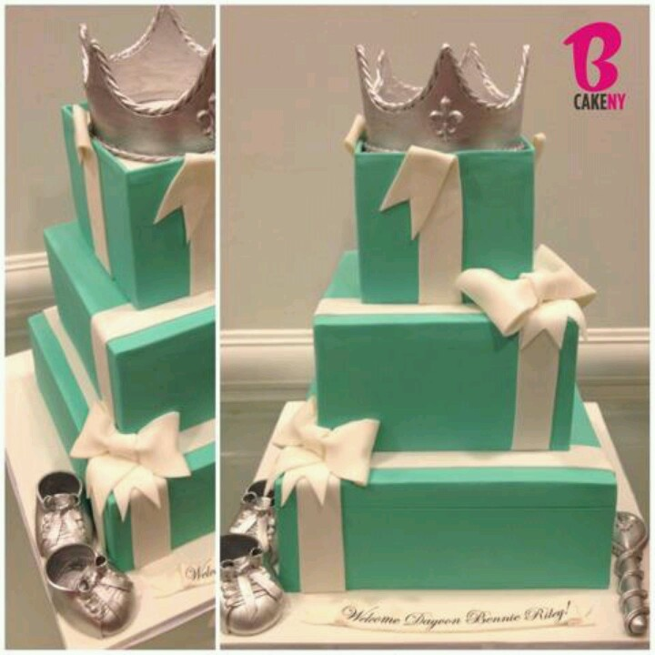 tiffany and co baby shower cake shower ideas baby shower cakes cake