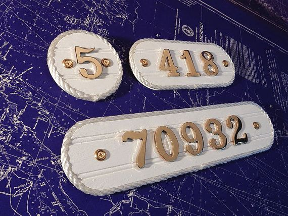 Brass House Number Plaque - Home Address Number Plate - FOR SALE by HarborsideCollection  Visit our shop Harborside Collection Shop for more fun products - www.etsy.com/shop/HarborsideCollection