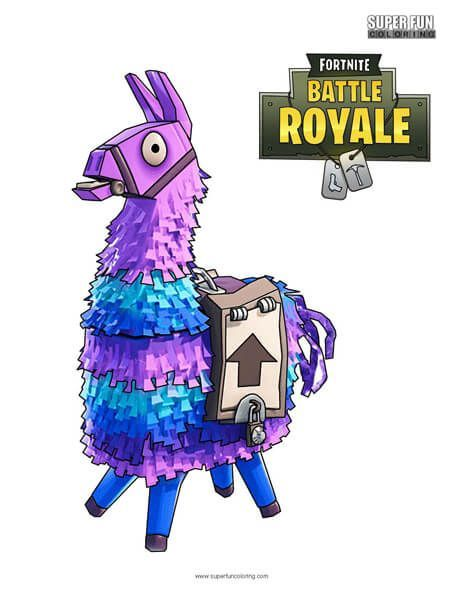 Fortnite Coloring Pages Llama drawing, Coloring pages