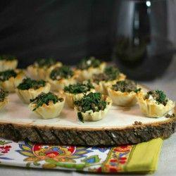 Beef Wellington Spanakopita Bites | Appetizers | Pinterest
