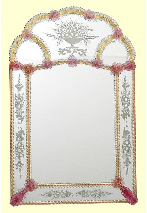 """Furetto"" #Murano #glass #mirror #art #luxury #design #Venetian #Muranolampstore #handcrafted https://www.muranolampstore.com/en/murano-glass-mirror-furetto"