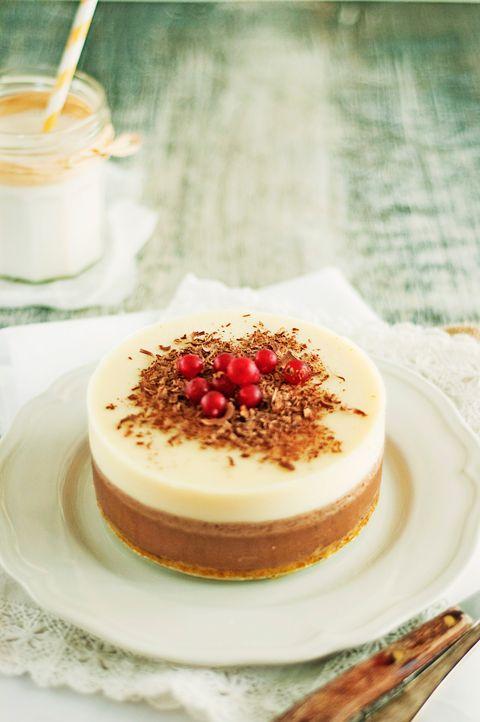Tarta tres chocolates, una tarta de cumpleaños fácil y fresquita sin horno