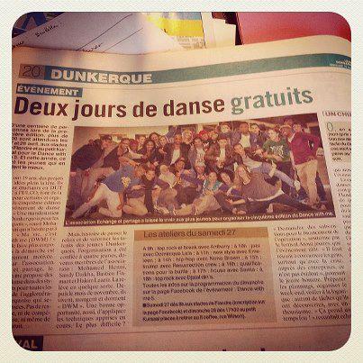 Dance With Me 5 ... on en parle l'évènement à ne pas manquer ... 2 jours de danse ...#danse #dwm5 #dunkerque #hiphop.  Merci Le Phare dunkerquois - Le Journal des Flandres pour l'interview...
