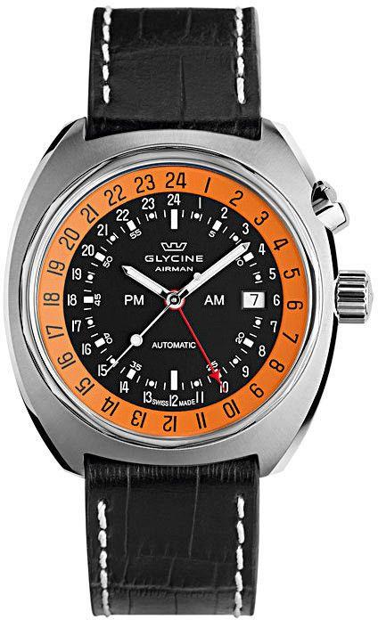 Glycine Watch Airman SST 12 #360-image-yes #bezel-fixed #bracelet-strap-leather…